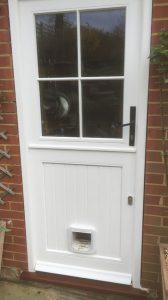 back door with cat flap