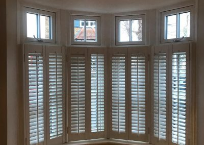 bay windows with shutters