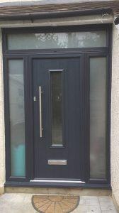grey composite front door