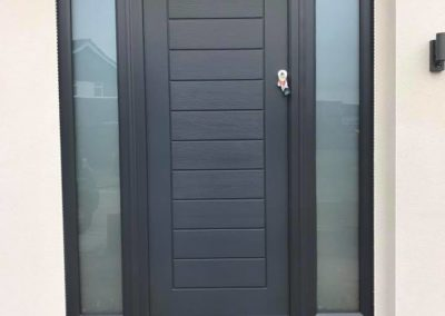 Grey Composite Solidor Front Door