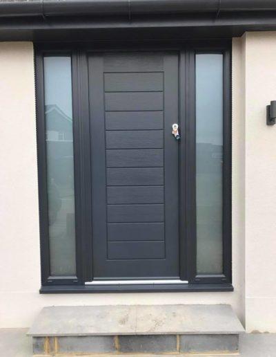 Grey Composite Solidor Front Door