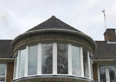 White PVC Round Bay Window