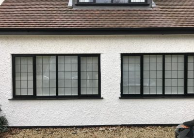 Black Casement Windows With Lead