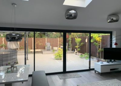 Grey EdgeGlide Sliding Door