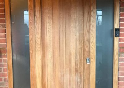 Bespoke Timber Front Door With Side Panels