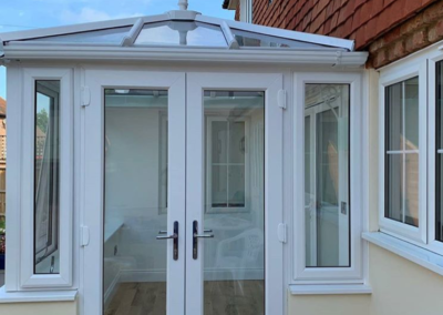 White PVC Box Conservatory With Solar Controlled Glass
