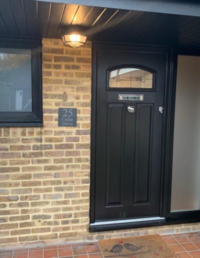 Composite Front Door With Side Panel And Window
