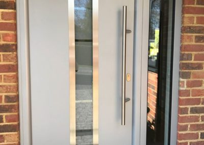 Grey Aluminium Front Door