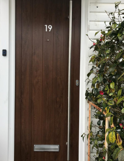 Dark Brown Composite Front Door