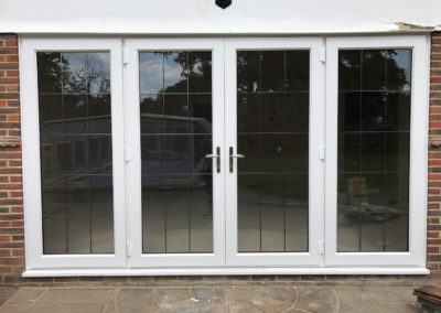 White PVC French Doors With Lead