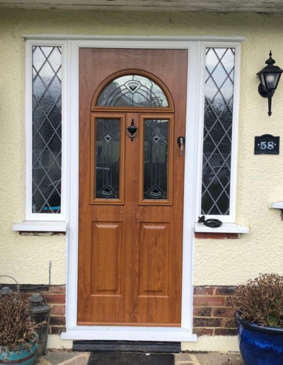 Composite Front Door Wood Effect