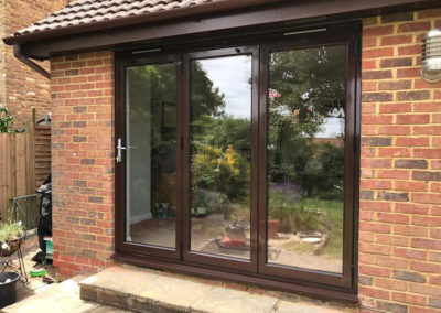 Dark Brown Bi Fold Doors