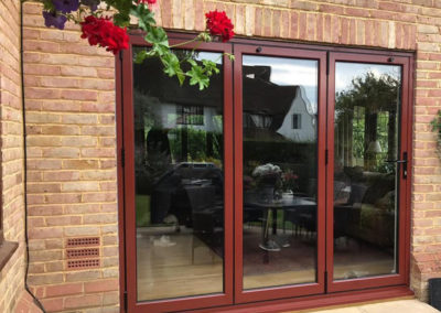Light Brown Bi Fold Doors