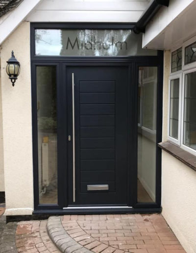 Grey Composite Front Door & Panels
