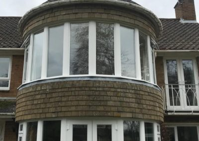 White PVC Round BayWindows