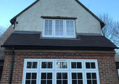 R9 White Casement Windows with Georgian Bars