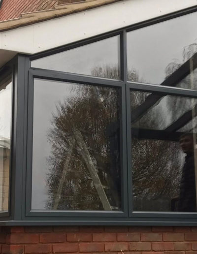 Grey PVC Casement Window