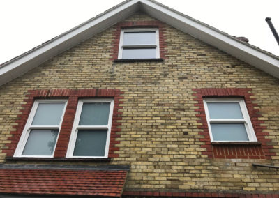 White Siding Sash Windows