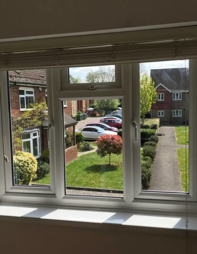 White PVC Casement Window