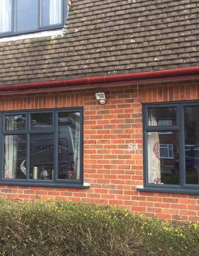 Grey PVC Casement Windows