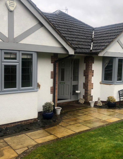 Light Grey PVC Casement Windows