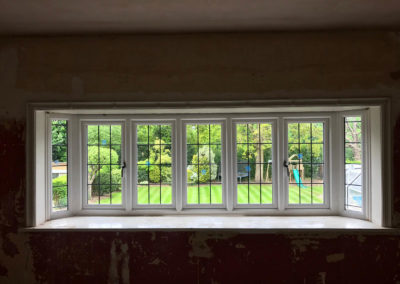 White PVC Bay Windows With Lead