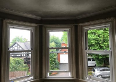 White Timber Sliding Sash Windows