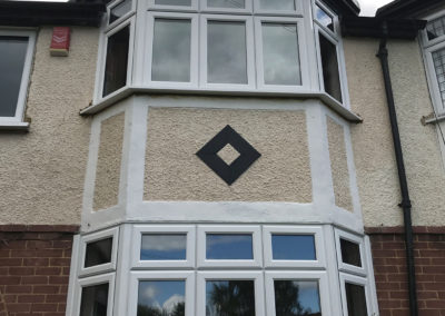 White PVC Bay Windows