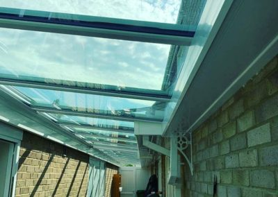 Outside Lean To Glass Roof 17m
