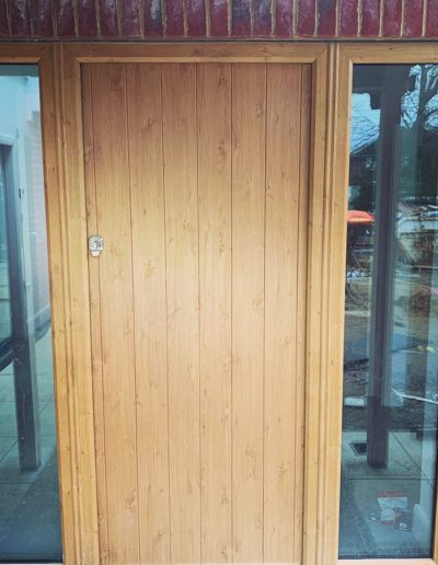 Bespoke Timber Front Door With Glass Side Panels