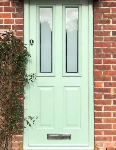 Light Green Composite Front Door