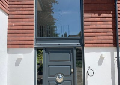 Grey Composite Door & Large Glass Panel