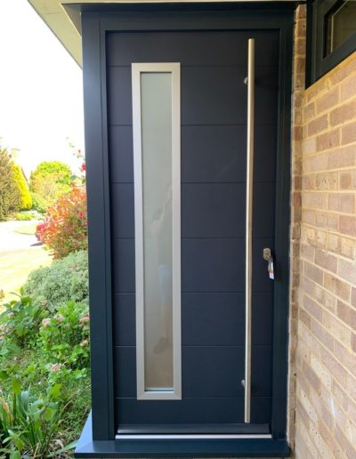 Grey Virtuoso Aluminium Door