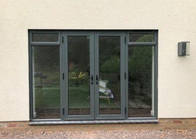 Grey French Doors