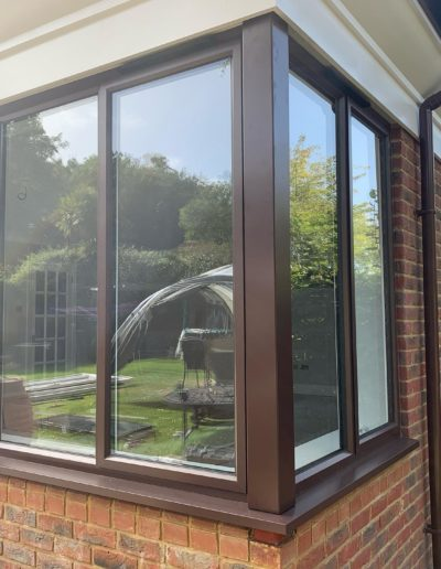 Brown Casement Windows