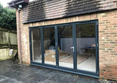 Grey Aluminium Bi Fold Door