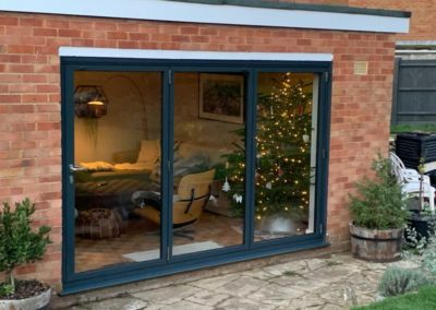 Grey Aluminium Bi Folding Doors