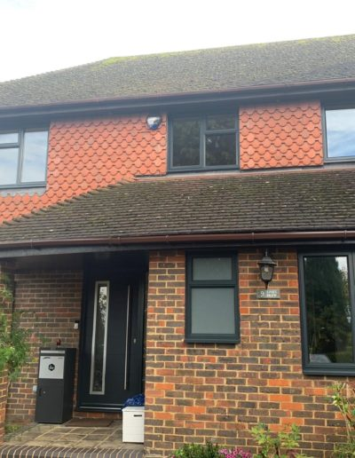 Grey PVCu Casement Windows