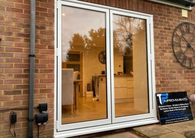 White Aluminium 2 Panel Bi Folding Door