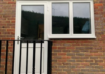 White PVCu Back Door And Window Panels