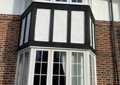 White PVCu Flush Bay Window